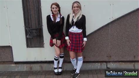 Schoolgirls Dominica Phoenix And Jessi Gold 3way In The