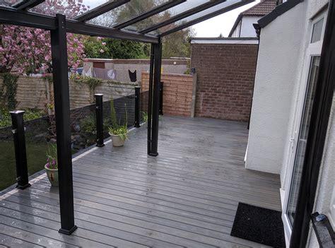 modern steel veranda installer  leigh lancashire greater manchester north west p clark