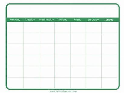 Calendar Blank Printable Template Simple Templates Calendars