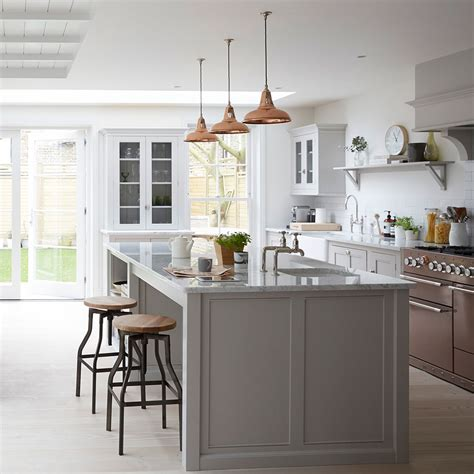 walnut kitchen island grey kitchen ideas that are sophisticated and stylish