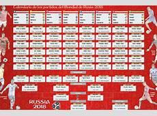 Calendario del Mundial de Fútbol Rusia 2018 Buscar De Todo