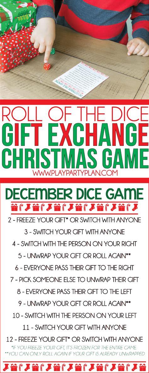 fun creative gift exchange games