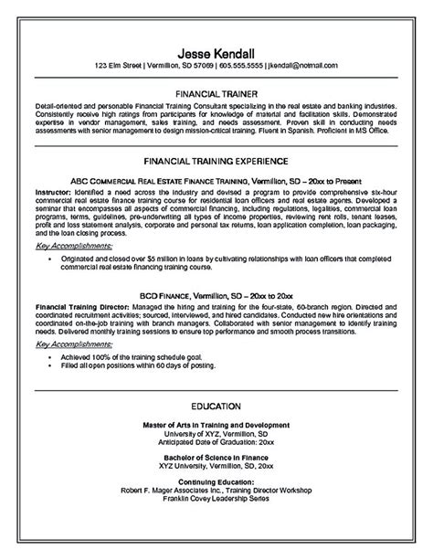 Area Of Expertise Exles by Personal Trainer Resume Should Explain An Expertise Area