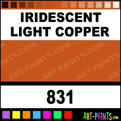 iridescent light copper classic acrylic paints 831