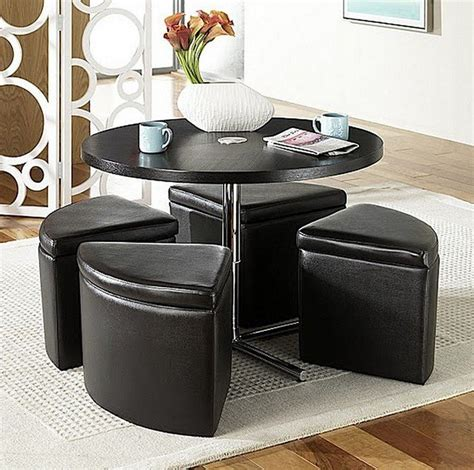 Table With Ottomans by Coffee Table With Storage Ottomans Foter