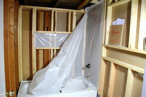 bathroom vapor barrier installing the vapor barrier for the bathroom shower blog homeandawaywithlisa