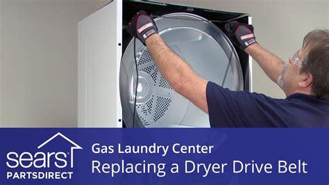 replace  gas laundry center dryer drive belt