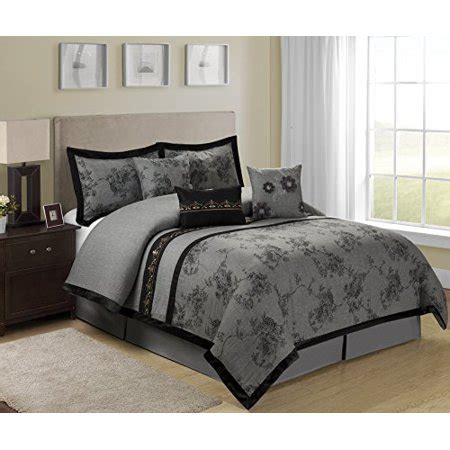 king size comforter sets clearance 7 shasta gray bed in a bag clearance bedding