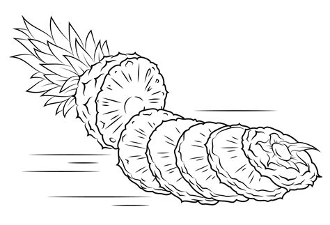 Kleurplaat Annanas by Pineapple Coloring Pages To And Print For Free