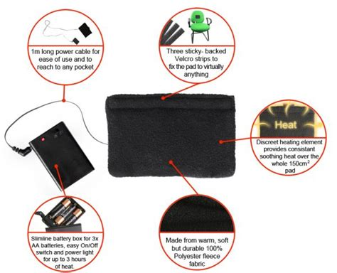 battery operated heat l warmawear battery operated heat therapy pad electric warm
