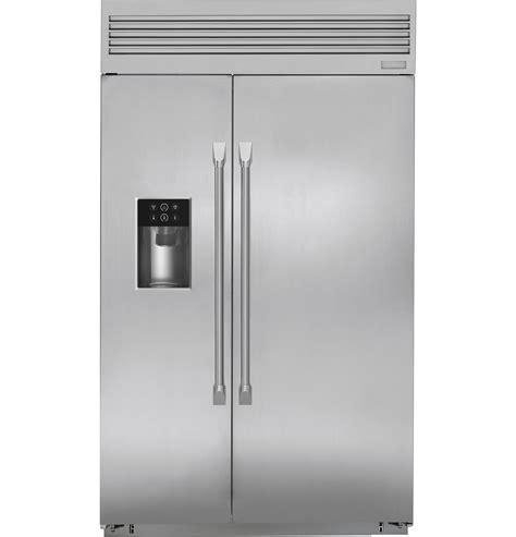 monogram  smart built  professional side  side refrigerator  dispenser zispdkss