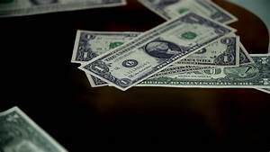 Money Falling Down In Slow Motion. Stock Footage Video ...