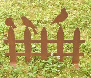 Zaunelemente Aus Metall : zaun gartenzaun vogel rost edelrost beetabgrenzung a ebay ~ Sanjose-hotels-ca.com Haus und Dekorationen