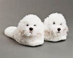 Fuzzy Bedroom Slippers by Bichon Frise Slippers Bichon Frise Dog Slippers