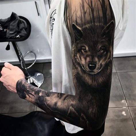 Tatouage Loup Blanc