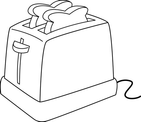 Black And White Toaster by Electric Toaster Line Free Clip
