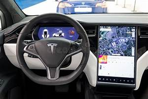 Interior Tesla Model X Luxury Electric Car Editorial Photography - Image of show, 2019: 137512122