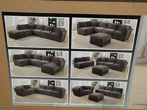 Sectional costco 6 piece modular fabric sectional for 5 piece modular sectional sofa costco