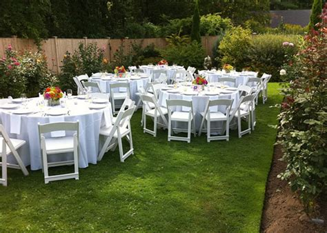 garden chair rentals variety of color options serving