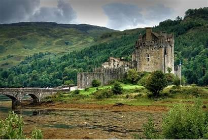 Scotland Castle Donan Eilean Castles Duich Loch