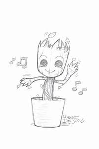 baby groot just some art pinterest zeichnungen mit With katzennetz balkon mit gardens of the galaxy groot