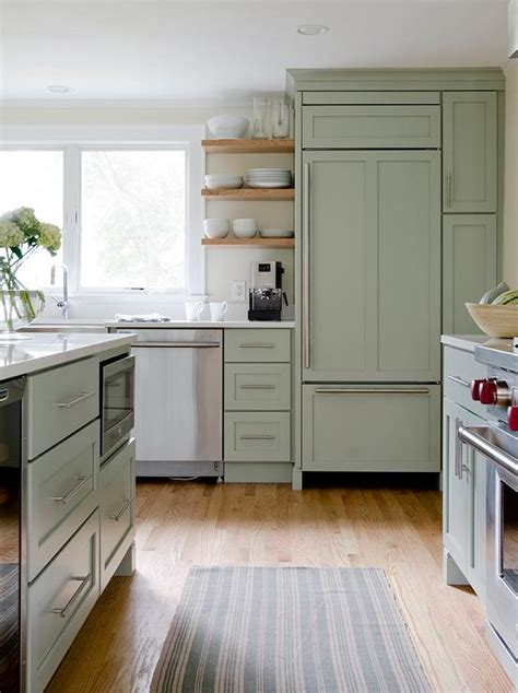 green and white kitchen cabinets sage green kitchen island floor to ceiling kitchen 368 | blond wood kitchen floors floating kitchen shelves