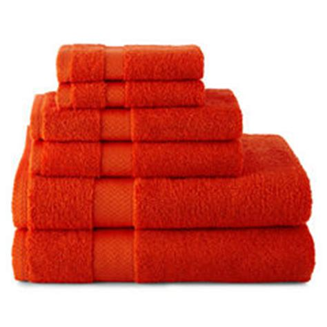 Jcpenney Bathroom Towel Sets by Orange Bath Towels For Bed Bath Jcpenney