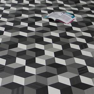 Pvc Fliesen Günstig : pvc bodenbelag cube 3d w rfel schwarz wei grau fantasy pvc cv bel ge design pvc vinyl ~ Markanthonyermac.com Haus und Dekorationen