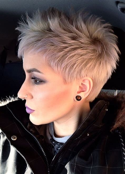 fabulous short spikey hairstyles  women  girls popular haircuts