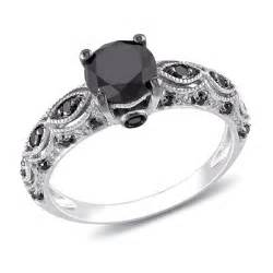 black wedding rings with diamonds 1 carat black antique engagement ring in white gold for jewelocean