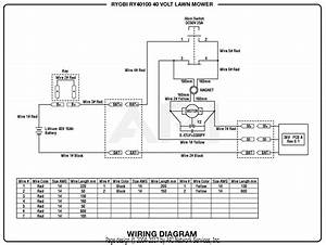 Homelite Ry40100 40 Volt Lawn Mower Parts Diagram For Wiring Diagram