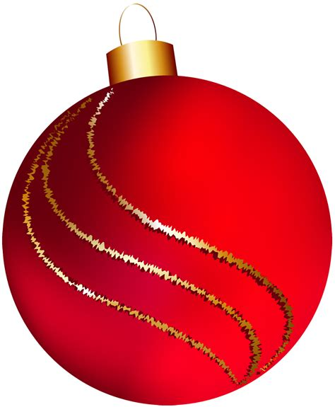 transparent christmas large red ornament clipart clipart