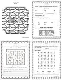 lds worksheets  printables mazes crosswords
