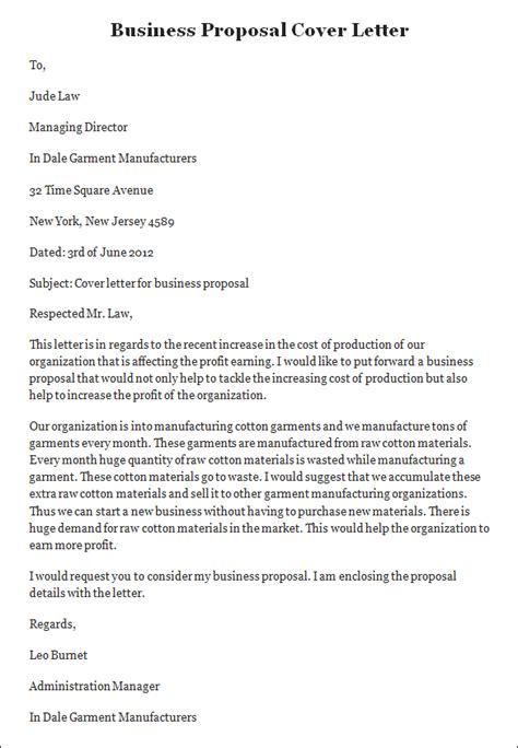 Business Plan Cover Letter Sle Business Cover Letter Business Cover Letter Template Sle Templates
