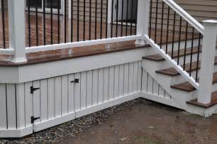 Inexpensive Deck Skirting Ideas by Decks Deck Skirting And Fascia