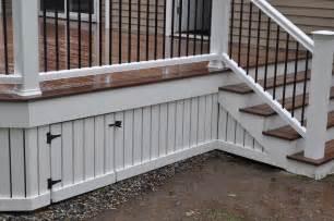 decks com deck skirting and fascia