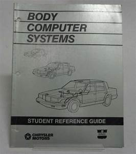 1988 Chrysler Body Computer Systems Student Guide Service