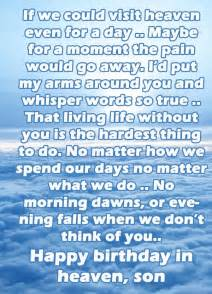 Happy Birthday Son in Heaven Quotes