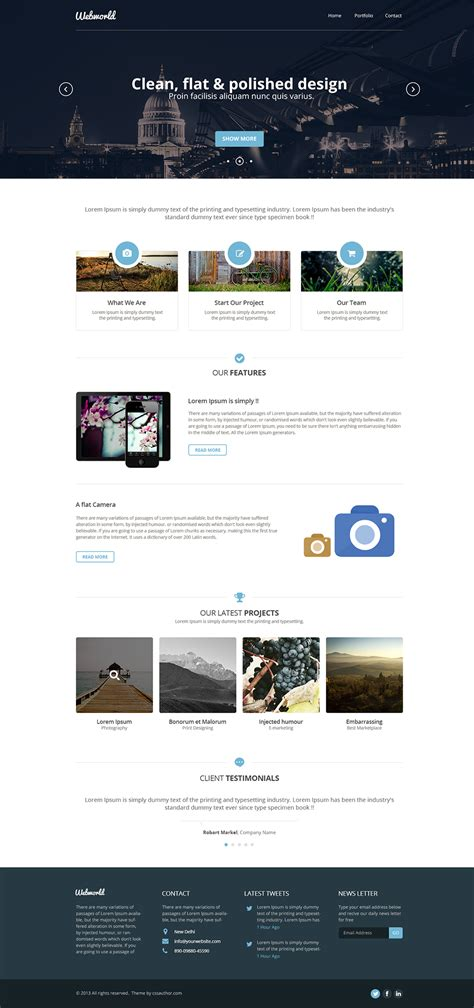 Webstite Templates Corporate Website Template Psd Free Graphics