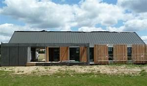 premiere maison en bois so39bois constructeur de maisons With couleur gris anthracite peinture 11 toit plat bac acier