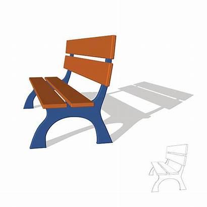 Bench Park Vector Clip Illustration 3d Illustrations