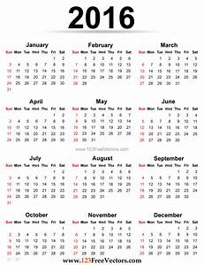 2016 calendar printable for Sample calendar 2016