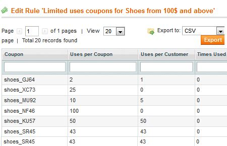 63182 Staging Coupon Code by Magento Generate Import Coupons Coupon Code Generator