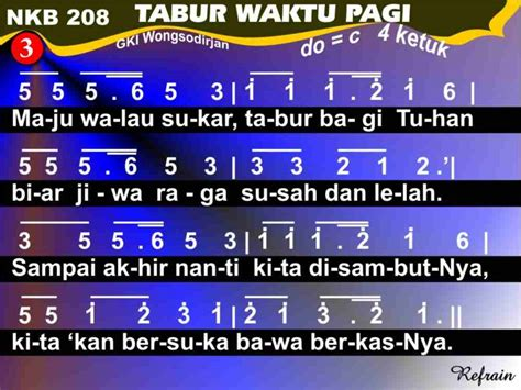 not angka sang surya nkb 208 tabur waktu pagi kidungonline com