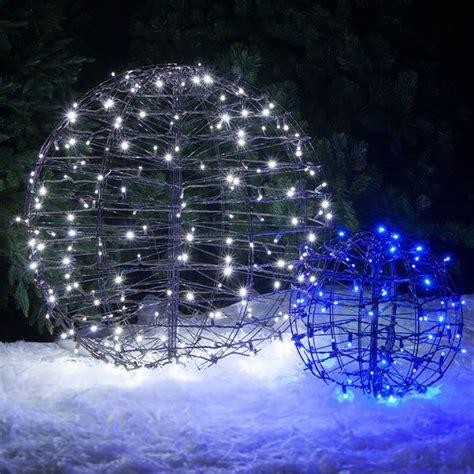 blue led hanging light sphere trees hanging lights