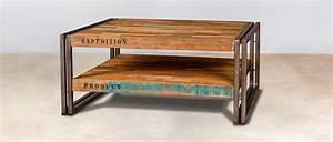 Table Salon Carrée : table salon carr e bois id es de d coration int rieure french decor ~ Teatrodelosmanantiales.com Idées de Décoration
