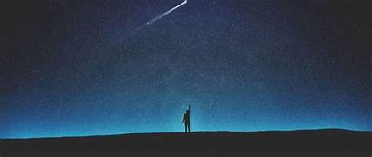 Shooting Sky Star Silhouette Starry Night Background