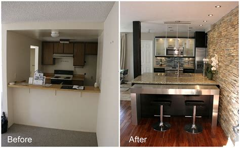Modern Kitchen Makeover Ideas Before And After  Interior