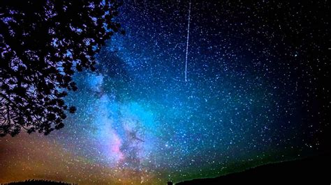 Milky Way Galaxy Night Sky Woodland Park Nikon D800 Time