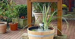 Bauanleitung mini teich mit wasserspiel mein schoner garten for Wasserspiel terrasse